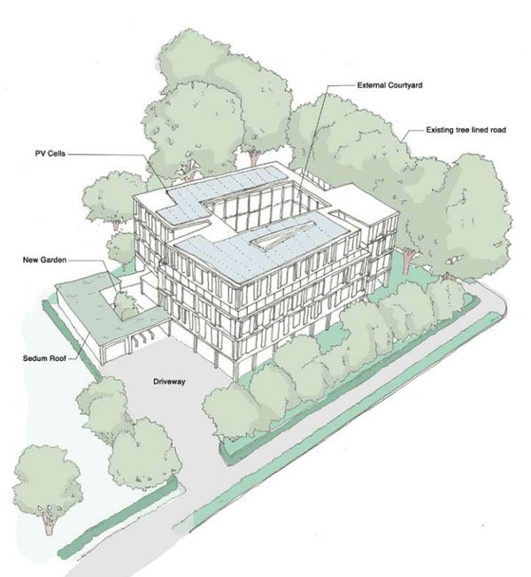 Proposed new EF Language School in Cambridge illustration