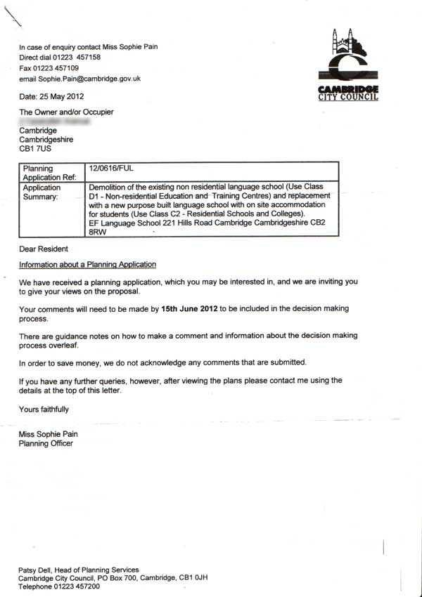 Information letter from the Council