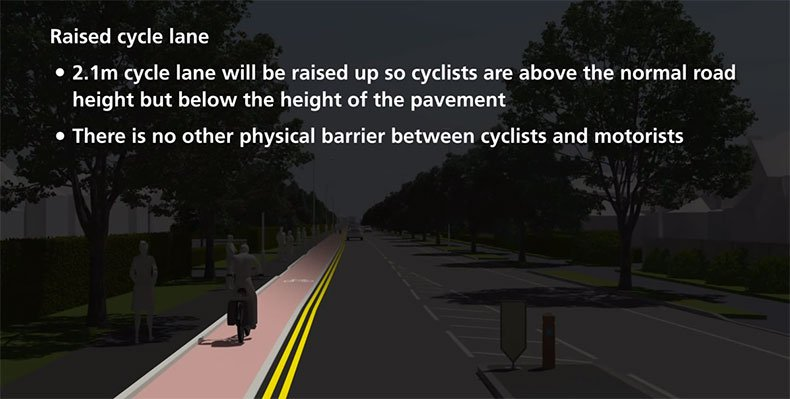 Raised Cycle Lane